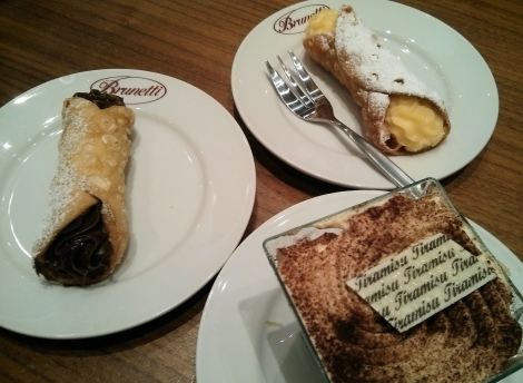 cannoli and tiramisu